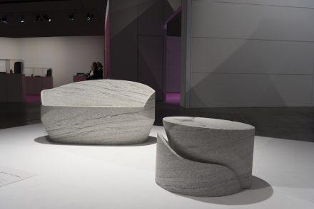 "Street furnitue ""Duo"", Design: Raffaello Galiotto; Company: Testi Group; Machine: T&D Robotics; Mastic: Ilpa Adhesivi; Partner: Metalco; Material: Duke White by Testi Group."
