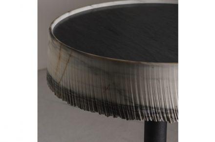 """""""Drap"""". Design: Paolo Ulian; Company: Silvestri Marmi; Material: Zebrino."""