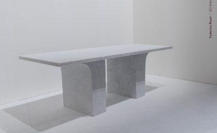 """Ever Growth""; Design: Federico Rossi; Companies: QD Robotics + Marble Studio Stagetti; Material: Marmo Bianco di Carrara."