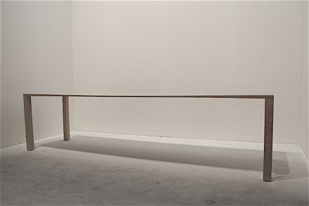 """""""Ponte (M)""""; Design: Blumerandfriends, Matteo Borghi; Company: Helios Automazioni; Material: Serpeggiante Silvabella Classico. Foto: Peter Becker"""