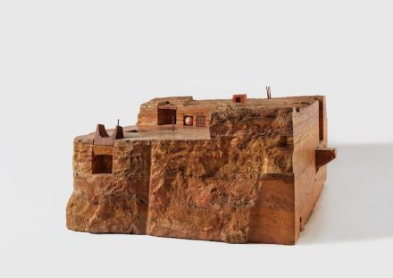 "Gonzalo Fonseca: ""Piazza"", 1985, Persian travertine. Photo: EPW Studio Maris Hutchinson"