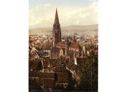 Das Freiburger Münster in einer Aufnahme zwischen 1890 und 1900. Quelle: Wikimedia Commons / The Library of Congress