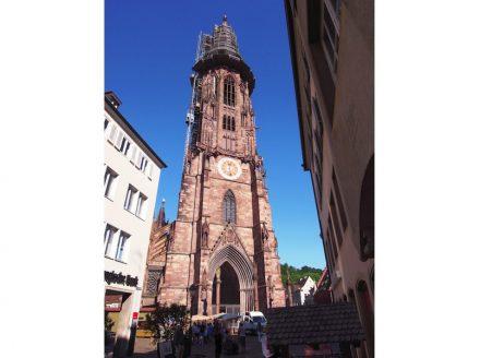 Natursteinarbeiten am Westturm des Münsters. Foto: Deutsche Stiftung Denkmalschutz