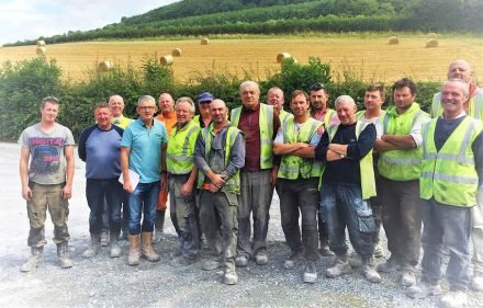 McKeon Stone's quarry workers. Fourth from left: Niall Kavanagh.