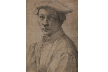 Portrait of Andrea Quaratesi, Michelangelo, 1532. Drawing, black chalk. The British Museum, London.