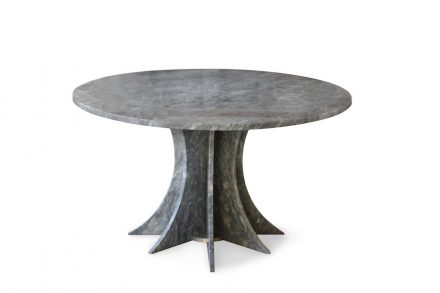 """Tisch """"Octogon"""" von Tom Dixon (1989) für Bigelli Marmi. Rendering: Marmomac"""