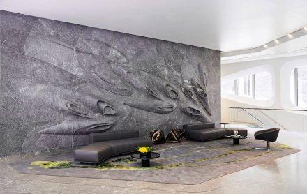 Grande Pinnacle Award: Stone works inside 520 W 28th Street in New York City.