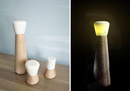 """Bold Design: Table lamps """"Pepe"""" and """"Moka""""."""