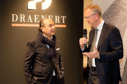 Dr. Patric Draenert (right) at IMM Cologne 2018 speaking with Hadi Teherani.