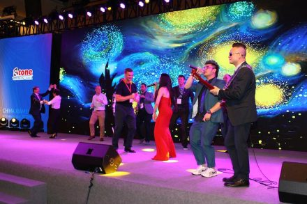 Xiamen Stone Fair 2018: Party zum Bankett.