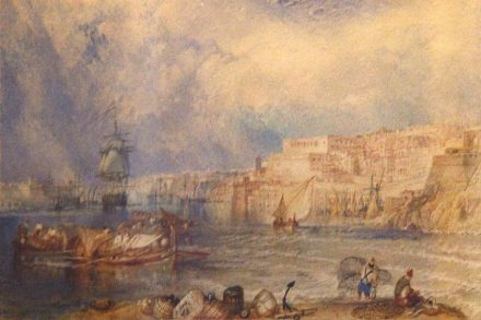 Greyish yellow limestone: William Turner's Painting of the Port of La Valletta in Malta's National Museum of Fine Arts. Source: Wikimedia Commons