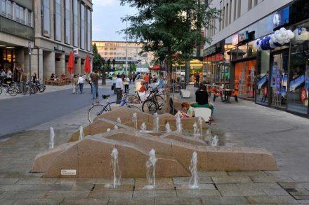 Besco, water projects: Leipzig, Grimmaische Straße.