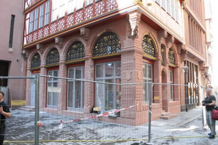 "House ""Goldene Waage"", reconstruction."