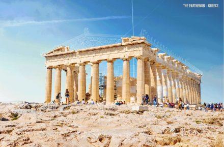Screenshot des Parthenon auf der Seite Expedia.