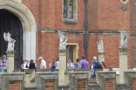 Main Entrance at Hampton Court Palace. Photo: Eliott Brown / Wikimedia Commons