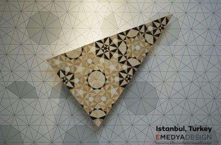 Mosaic 4.0 nannte Gökhan Karakus vom türkischen Designstudio Emedya seinen Entwurf, der sich auf die islamische Kunst der Geometrie bezog. Die Firma Silkar/Akdo hatte ein Beispiel produziert.