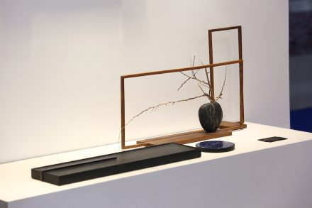 5th Gallery showed objects for an aesthetically pleasing daily life in China and combined stone with wood.