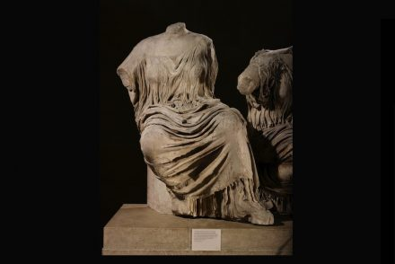 Rising goddess, figure K from the east pediment of the Parthenon, about 438–432 BC. Marble © The Trustees of the British Museum