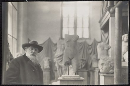 Rodin in his Museum of Antiquities at Meudon on the outskirts of Paris, about 1910. Photo: Albert Harlingue. Image © Musée Rodin