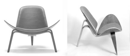 "Hans J. Wegner ""Shell Chair"" (1963)."