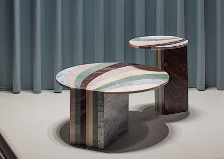 """Budri, Patricia Urquiola: sidetables """"Marea"""" from """"Agua"""" collection."""