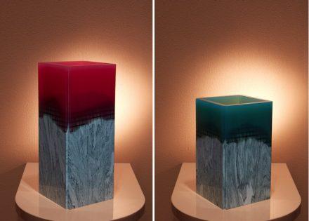 """Budri, Patricia Urquiola: vases """"Orilla"""" from """"Agua"""" collection."""