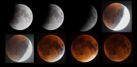 The phases of this total lunar eclipse. Source: Deutsches Museum, München