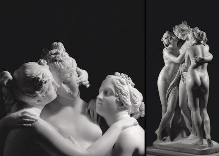 "Antonio Canova, ""The Three Graces"", 1812–16 (detail). Source: Aurelio Amendola / State Hermitage Museum, St Petersburg"