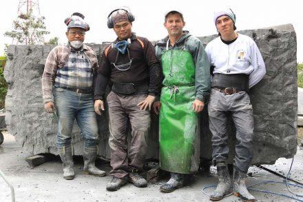 (f.l.t.r.) Assistants Chau and Azen, Tobel, Tobel Jr. Emil.