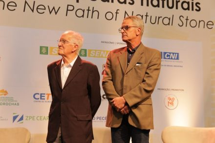 Guido Bissi's brother Claudio (left) and his son Marco Fabio, accepted the honors in stead