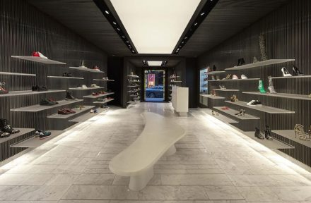 MVSA Architets: Shoebaloo's flagship store in Amsteram's PC Hoofstraat after refurbishment.