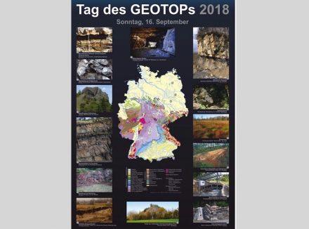 Plakat zum Tag des Geotops 2018.