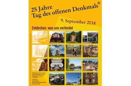 Plakat des Tags des offenen Denkmals 2018.