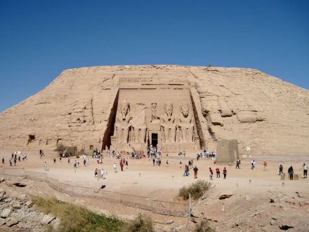 The temple of Ramesses at the new site. Photo: Olaf Tausch / Wikimedia Commons