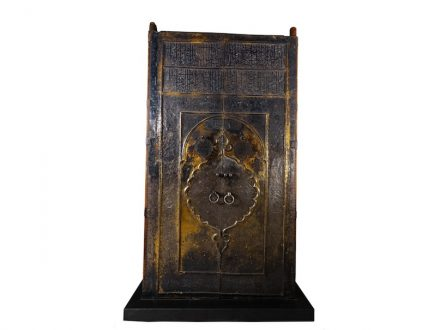 Ka'ba Door dates back to the reign of Sultan Murad IV, probably Turkey, 1045 H/1635–1636, embossed, engraved and gilt silver sheet on wood, 342 × 182 cm, Mecca, The Holy Mosque, Riyadh, National Museum.