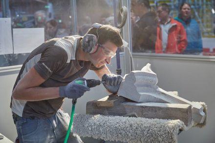 1. Sieger: Robert Ziller vom Steinmetzbetrieb Berthold Ziller aus Adnet bei Salzburg.