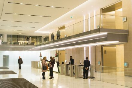 Moca Cream from LSI Stone: 20 Fenchurch Street, London, UK.