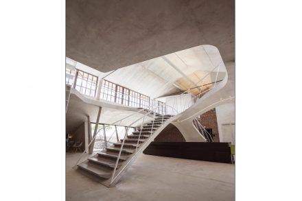 The loft of Salzburg's Panzerhalle.
