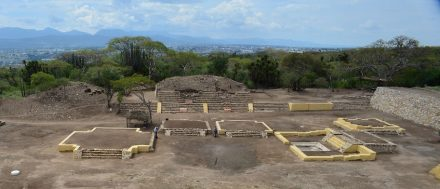 Temple of Xipe-Totec at Ndachjian–Tehuacánin, Mexico.