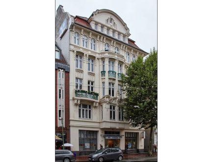 Wohn- und Geschäftshaus in der Hafenstraße 153 in Bremerhaven. Foto: DSD