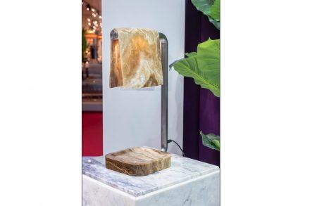 "<a href="" https://www.aatc.it/""target=""_blank""> A.A.T.C.</a>: ""Karim in Marble"" (table lamp). Design: Karim Rashid."