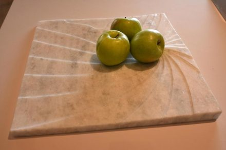"Fruit bowl ""e.ro"". Design: Andrea Macruz. Company: Cajugram. Stone: marble Shadow."