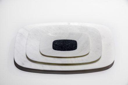 "Tray ""Caparaó"". Design: Ricardo Freisleben. Company: Marbrasa. Stone: marble Branco Cachoeiro."
