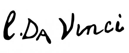"Leonardo's signature under a painting. Source: <a href=""https://commons.wikimedia.org/""target=""_blank"">Wikimedia Commons</a>"
