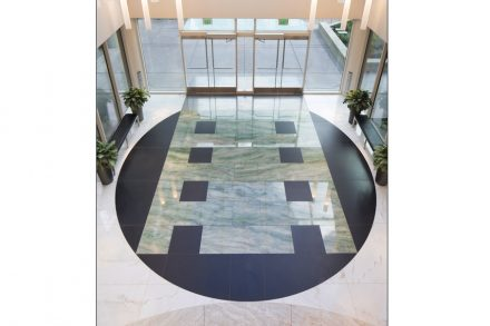 CID-Awards: Commercial Stone Installation. Project: Concord Plaza. Installer: Pennacchio Tile, Inc. Location: Concord, CA.