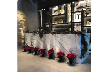 CID-Awards: Commercial Stone Design. Project: Chicago Showroom. Designer: Materials Marketing. Location: Chicago, IL.