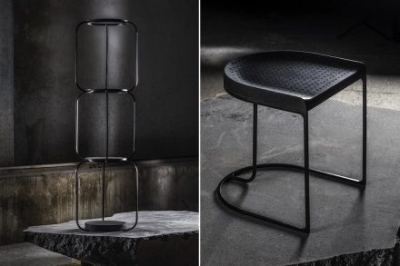 Lithea, Martinelli Venezia Studio: cornel, stool.