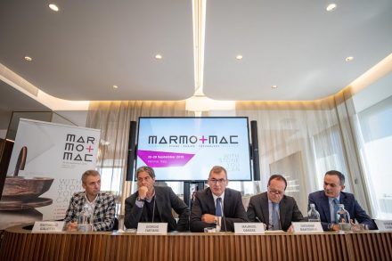 Press conference of Veronafiere on Marmomac 2019.