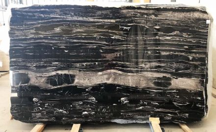 Original slab: Black Dune Marble from Tino company.