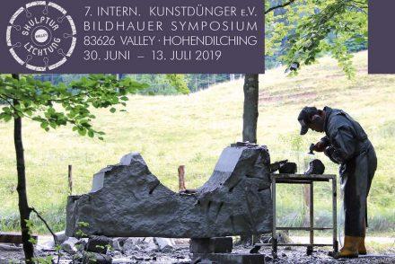 """Flyer des Bildhauersymposiums """"Kunstdünger"""" 2019."""